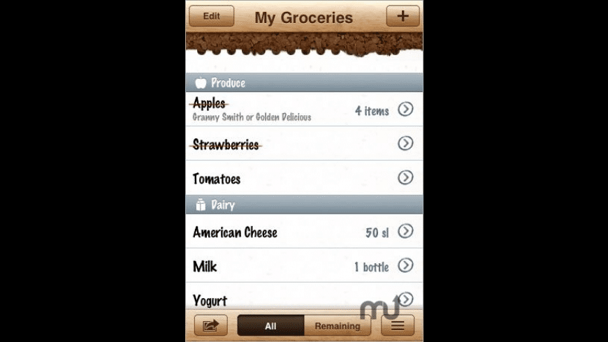 Groceries - Grocery shopping today for Mac - review, screenshots