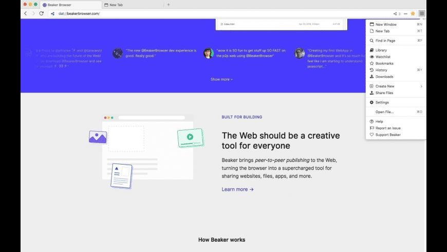 Beaker for Mac - review, screenshots