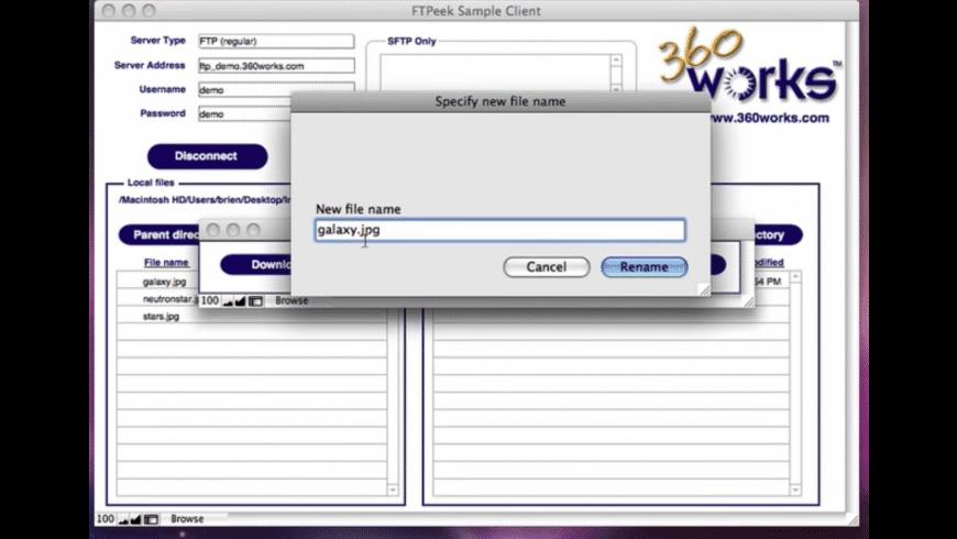 360Works FTPeek for Mac - review, screenshots