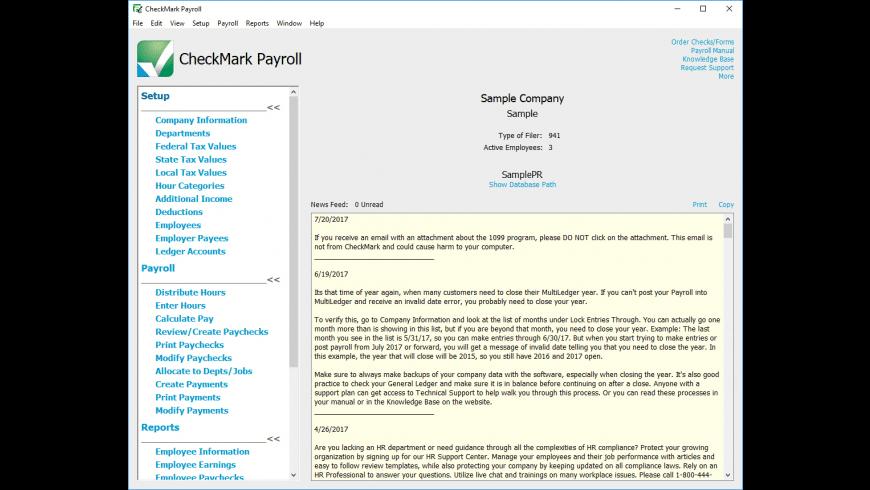CheckMark Payroll 2018 for Mac - review, screenshots