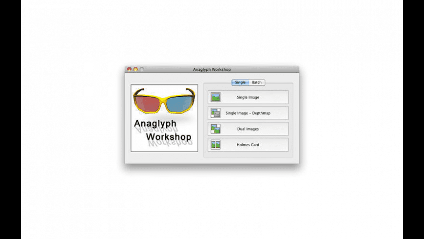 Anaglyph Workshop for Mac - review, screenshots