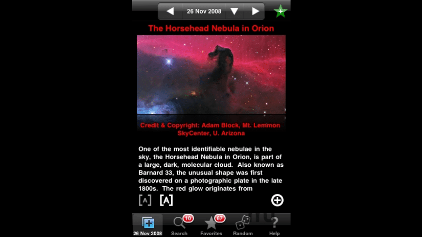 iAPODViewer - Astronomy Picture of the Day for Mac - review, screenshots