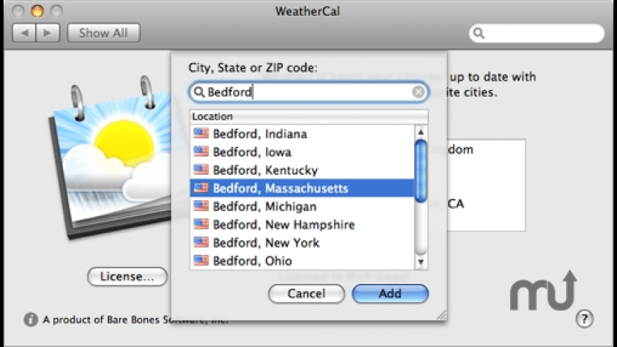 WeatherCal for Mac - review, screenshots