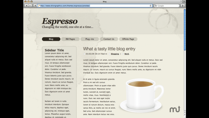 Espresso theme for Mac - review, screenshots