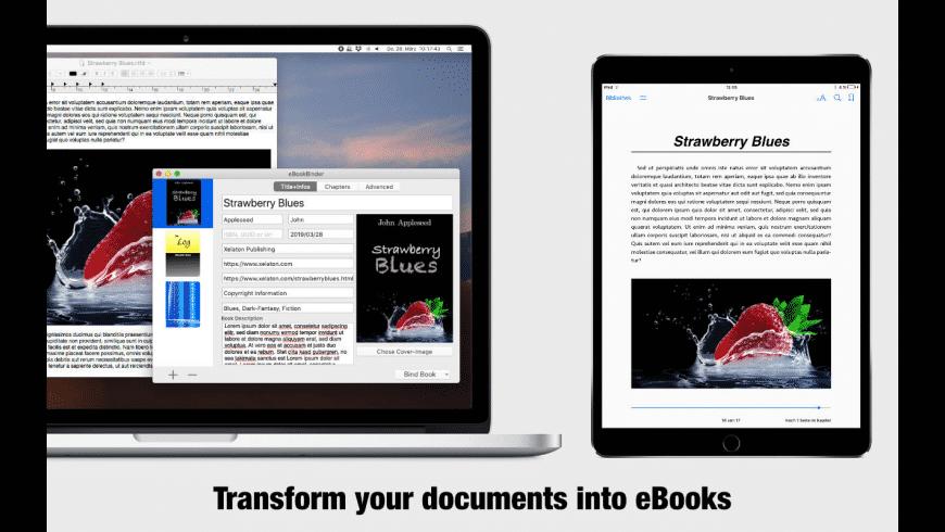 eBookBinder for Mac - review, screenshots