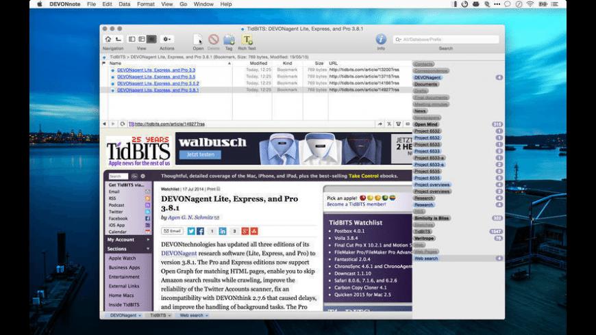 DEVONnote for Mac - review, screenshots