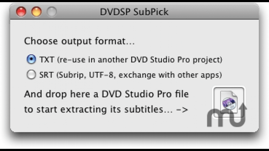DVDSP SubPick for Mac - review, screenshots