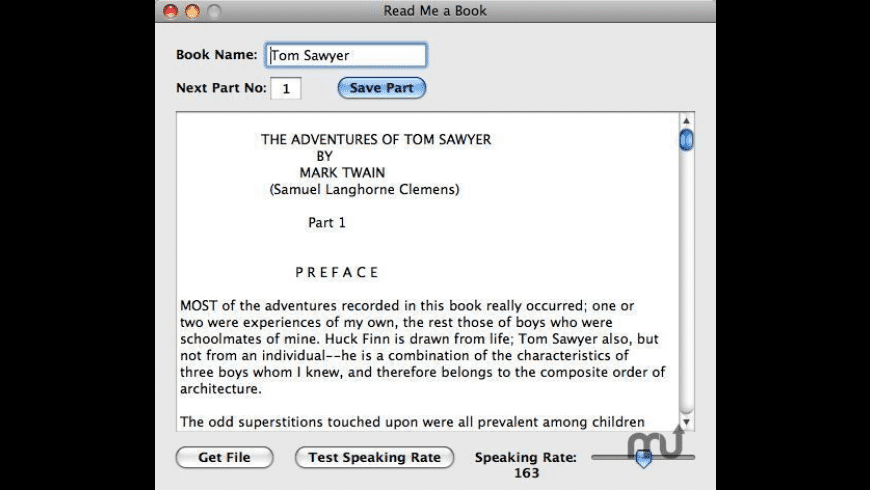 Read Me a Book for Mac - review, screenshots
