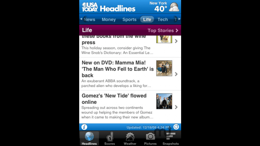 USA TODAY for Mac - review, screenshots