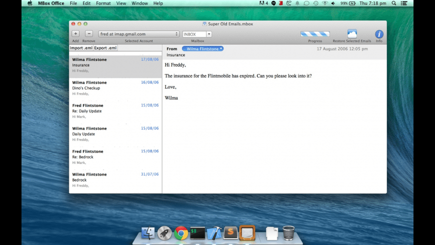MBox Office for Mac - review, screenshots