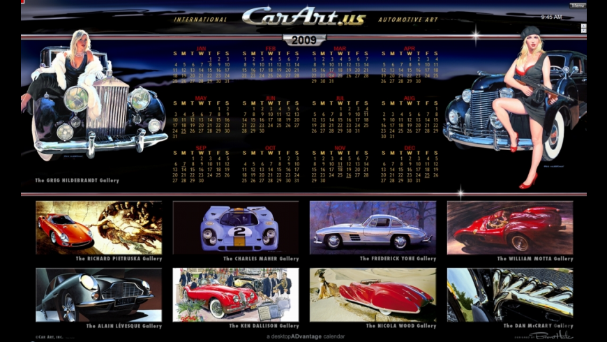 Car Art Calendar for Mac - review, screenshots