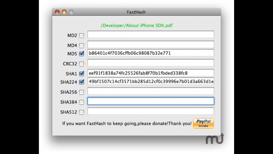 FastHash for Mac - review, screenshots