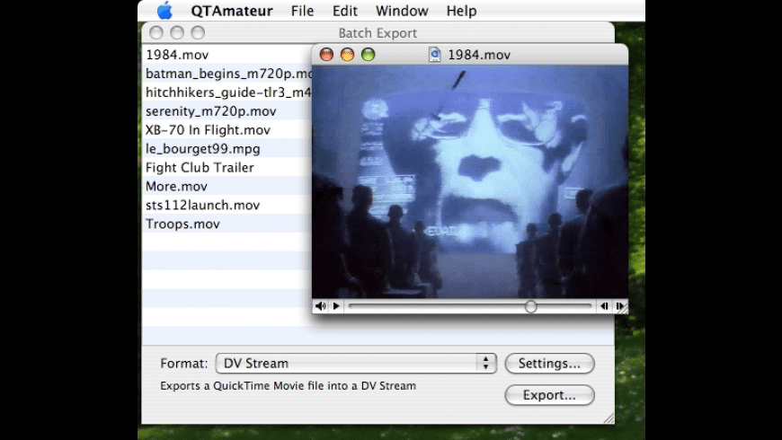 QTAmateur for Mac - review, screenshots