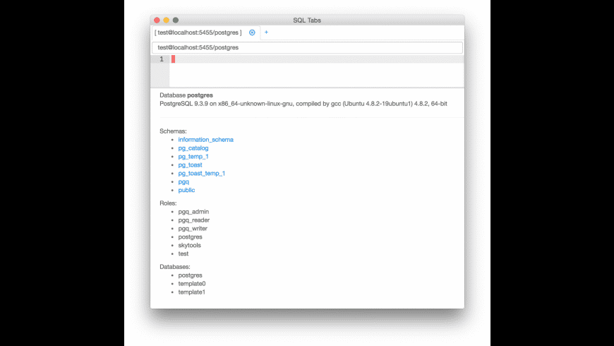 SQL Tabs for Mac - review, screenshots