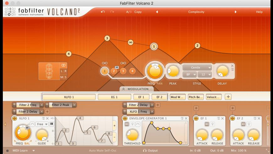 FabFilter Volcano for Mac - review, screenshots