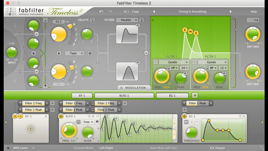 FabFilter Timeless for Mac - review, screenshots