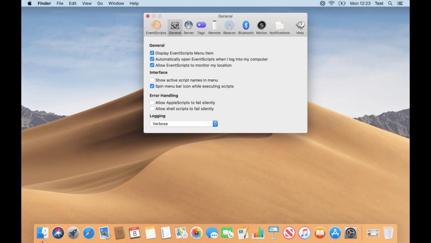 EventScripts for Mac - review, screenshots