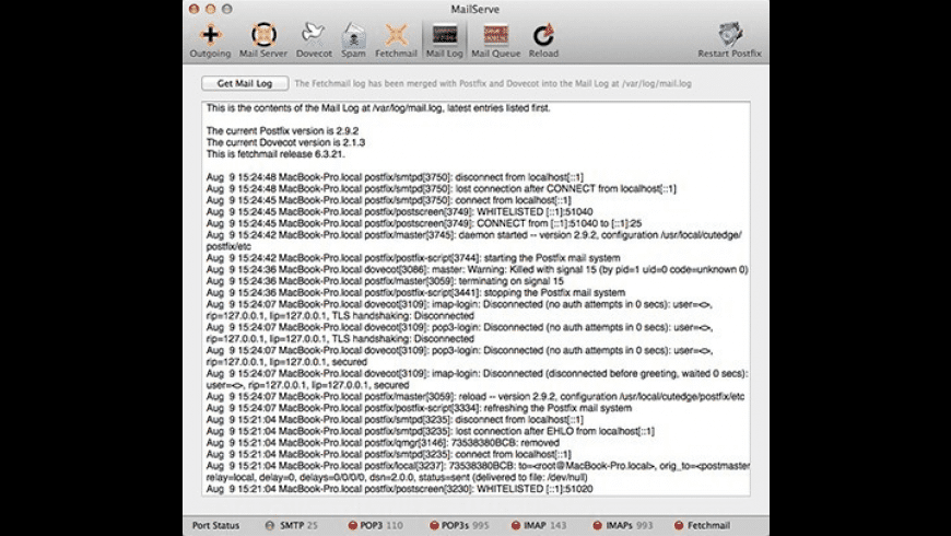 MailServe for Mac - review, screenshots