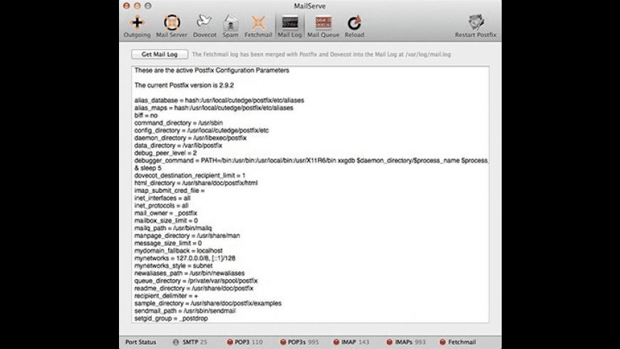 MailServe for Mac - review, screenshots