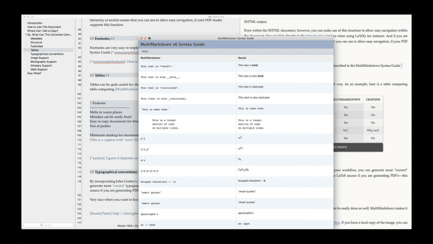 MultiMarkdown Composer for Mac - review, screenshots