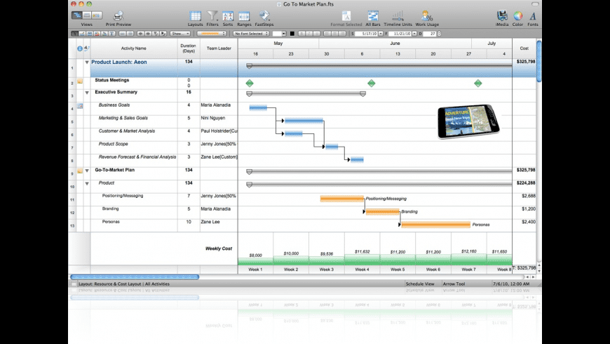 FastTrack Schedule for Mac - review, screenshots