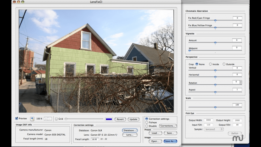 LensFix CI for Mac - review, screenshots