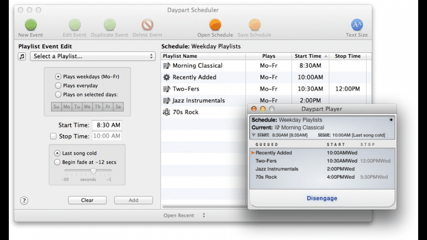 Daypart for Mac - review, screenshots