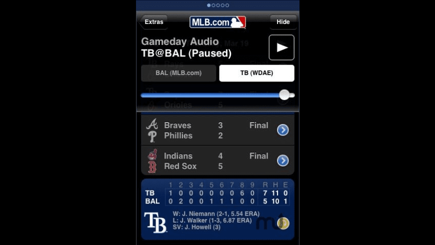 MLB.com At Bat 2009 for Mac - review, screenshots