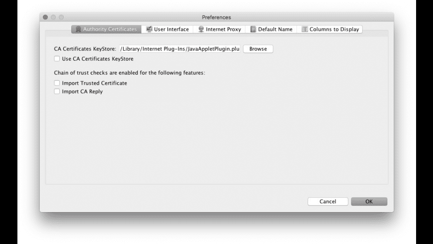 KeyStore Explorer for Mac - review, screenshots