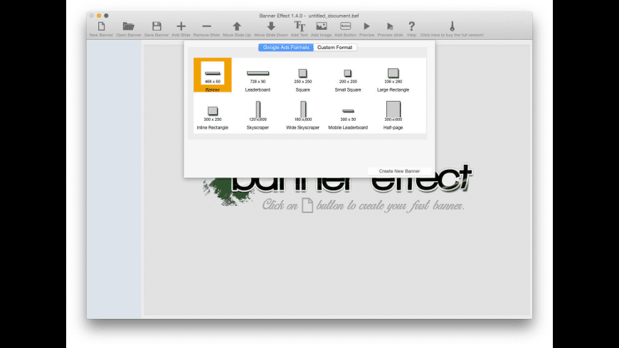 Banner Effect for Mac - review, screenshots
