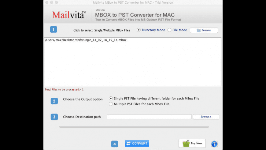 Mailvita Apple Mail to PST Converter for Mac - review, screenshots