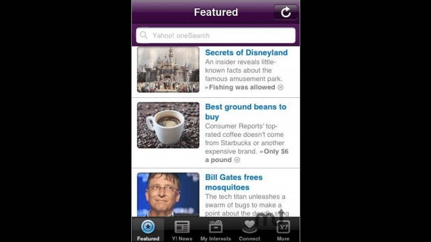 Yahoo! for Mac - review, screenshots