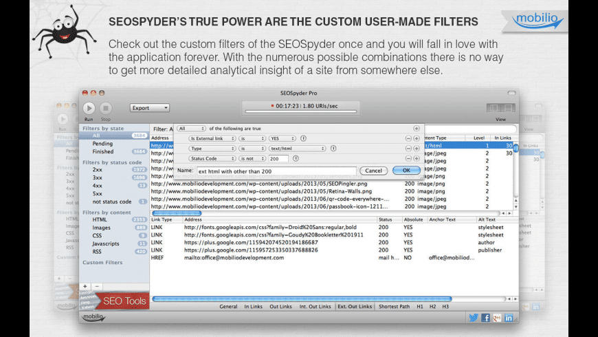 SEOSpyder for Mac - review, screenshots