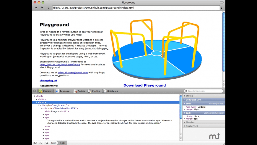 Playground for Mac - review, screenshots