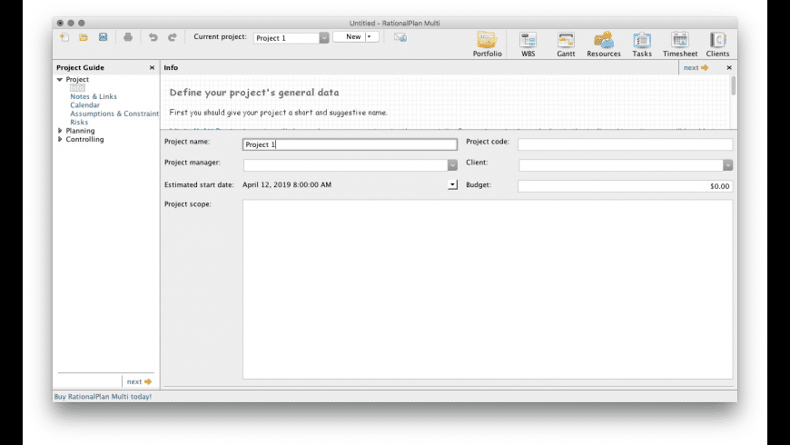 RationalPlan Multi Project for Mac - review, screenshots