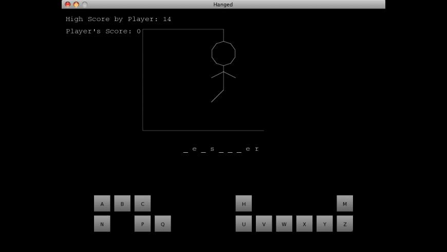 Hanged for Mac - review, screenshots