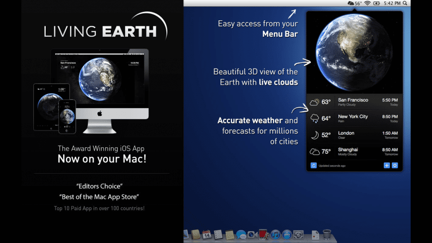 Living Earth for Mac - review, screenshots