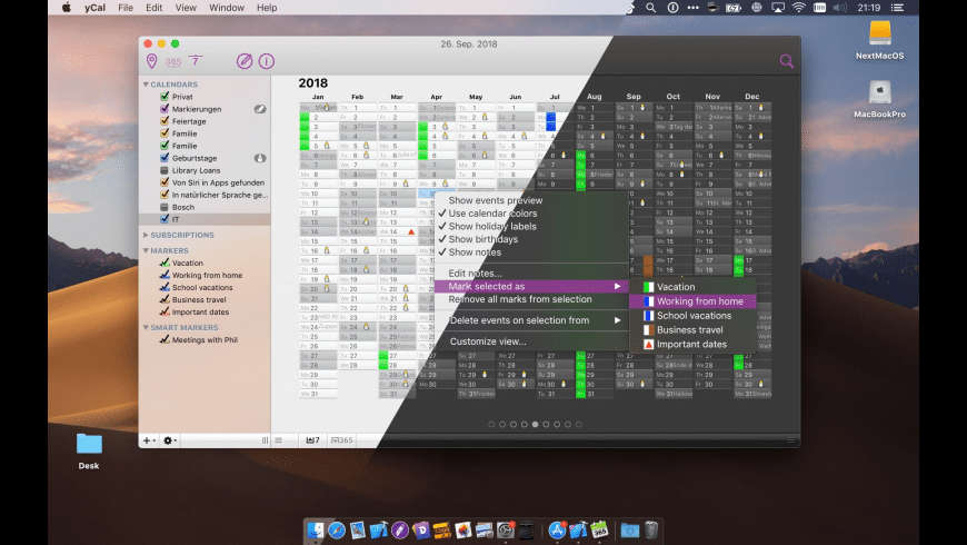 yCal for Mac - review, screenshots