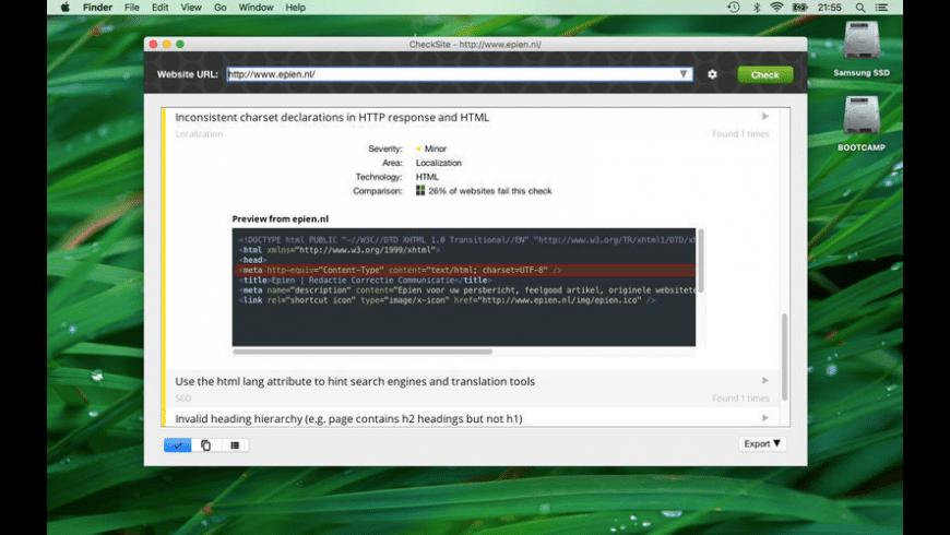 CheckSite for Mac - review, screenshots