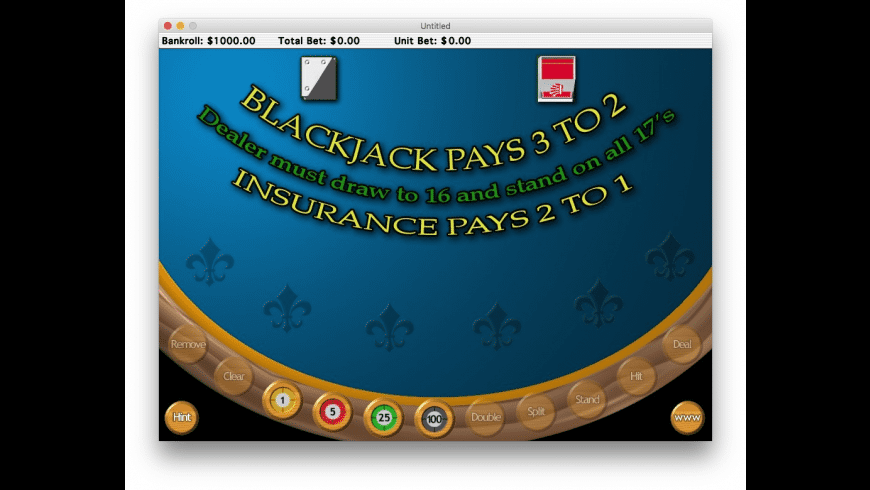 Deluxe Blackjack for Mac - review, screenshots