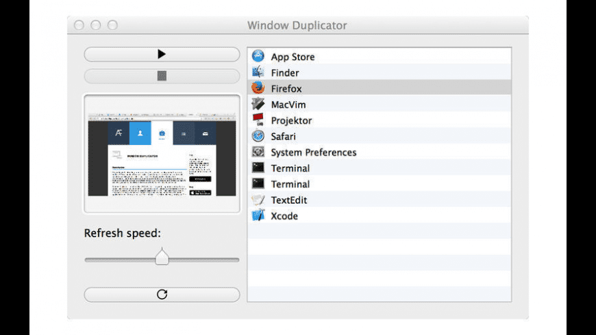 Window Duplicator for Mac - review, screenshots
