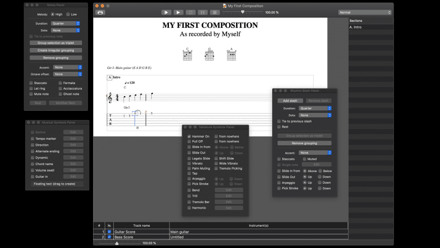 Tablatures for Mac - review, screenshots