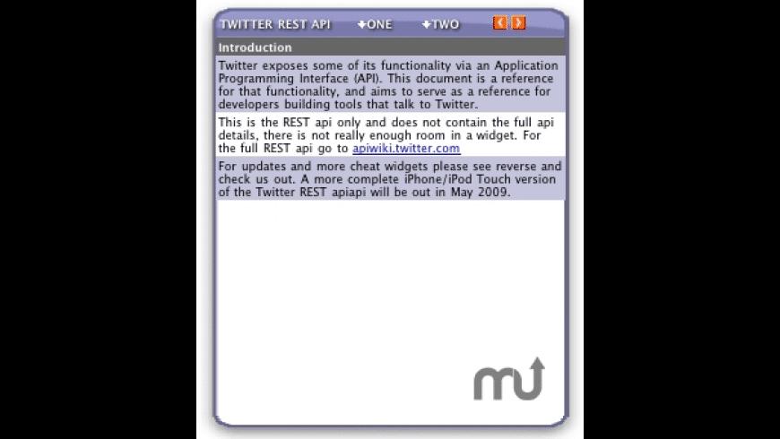 Twitter REST api Chat Widget for Mac - review, screenshots