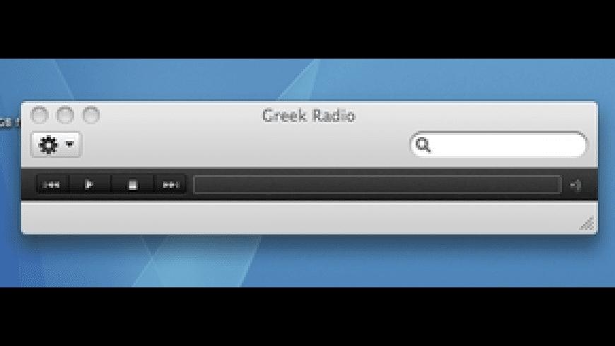Greek Radio for Mac - review, screenshots