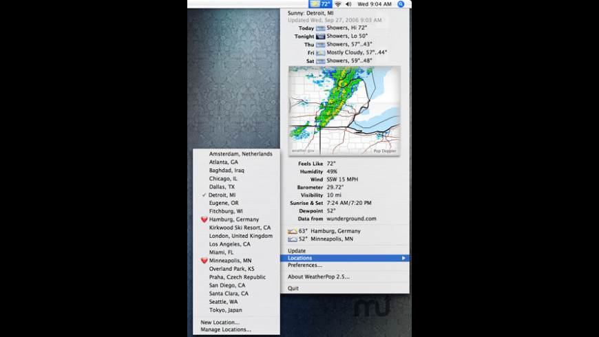 WeatherPop for Mac - review, screenshots