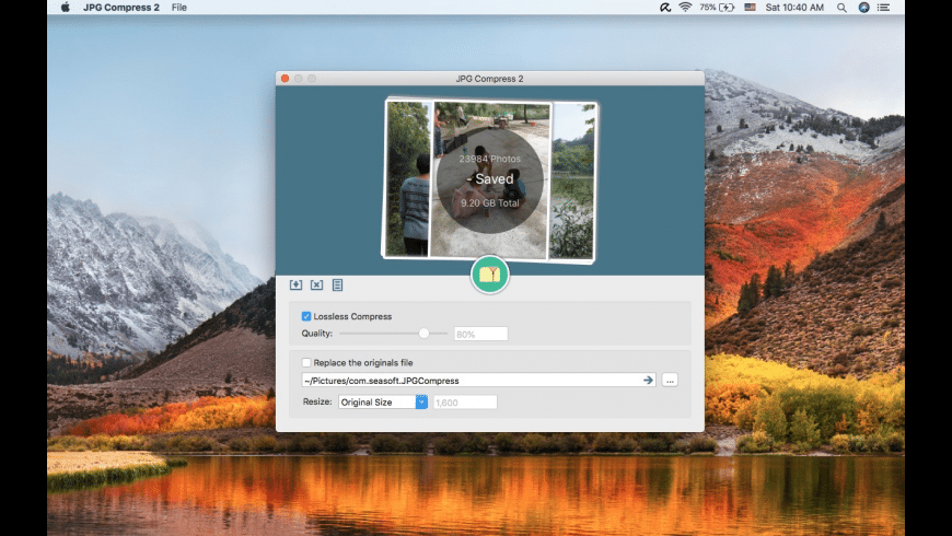 JPG Compress 2 for Mac - review, screenshots