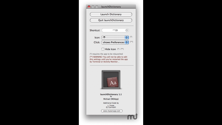 launchDictionary for Mac - review, screenshots