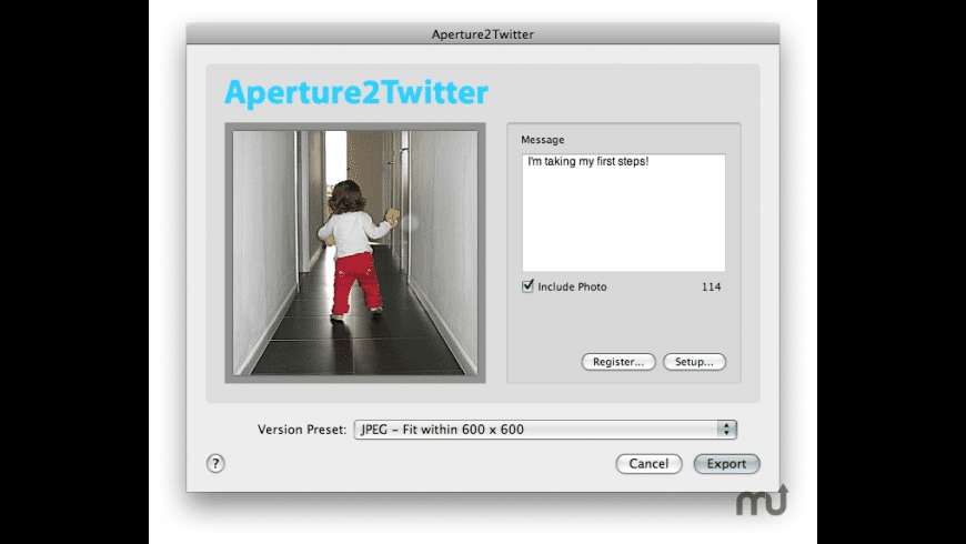 Aperture2Twitter for Mac - review, screenshots