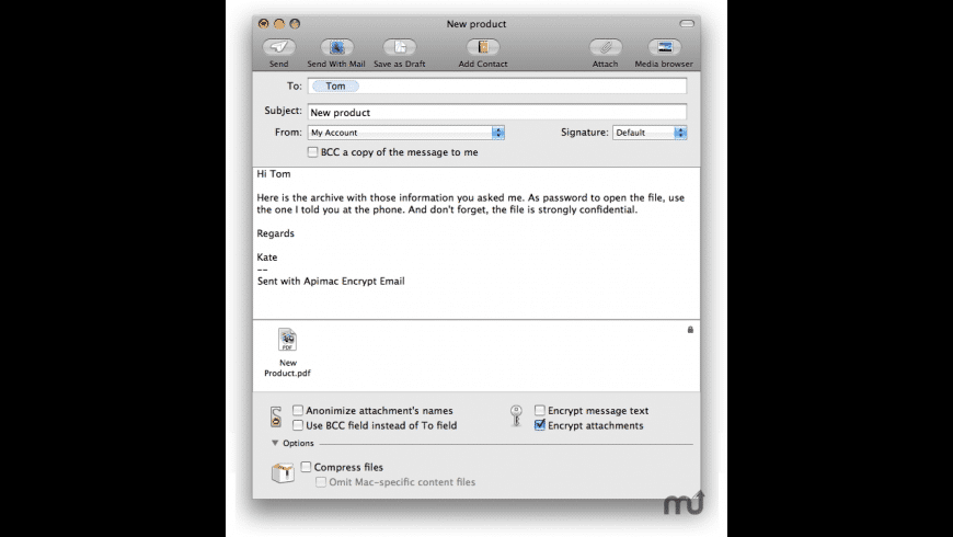 Encrypt Email for Mac - review, screenshots