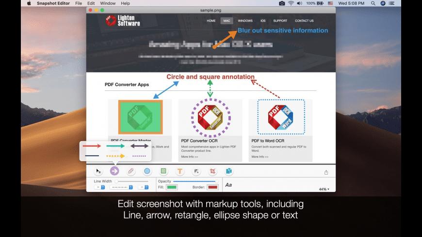 Snapshot Editor for Mac - review, screenshots